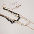 "30"" Multi Strand Chain & Pearl Fashion Necklace Set .62 ea set"