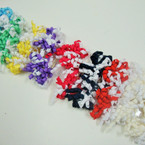 """2 Pack 3"""" Curly Ribbon Bow on Gator Clip Two Tone Colors"""