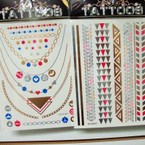 Colorful Golden Flash Tattoos 6 Asst Styles Per Pack (247) .65 ea sheet