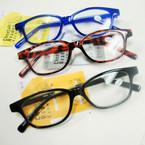 Asst Color Basic Style Plastic Reading Glasses (PR06)  .60 ea