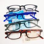 Asst Color Basic Style Plastic Reading Glasses (PR02)  .60 ea