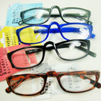 Asst Color Basic Style Plastic Reading Glasses (PR03)  .60 ea