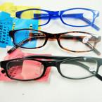Asst Color Basic Style Plastic Reading Glasses (PR04)  .60 ea