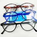 Asst Color Basic Style Plastic Reading Glasses (PR05)  .60 ea