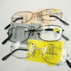 3- Asst Color Basic Style Metal Wire Reading Glasses (GY05)  .66 ea