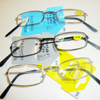 3- Asst Color Basic Style Metal Wire Reading Glasses (GY01)  .66 ea