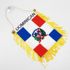 "4"" X 6"" Mini Banner Flag Dominican Rep. .54 ea"