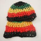 Crochet Beanie Cap Rasta Colors   .87  ea