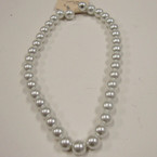 """16"""" 10MM Glass Pearl Necklace Set All White .52 ea set"""