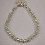 "16"" 10MM Glass Pearl Necklace Set All Cream Color .52 ea set"