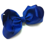"6"" Royal Blue Color Gro Grain Gator Clip Bow .54 ea"
