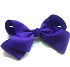 "6"" Dark Purple Color Gro Grain Gator Clip Bow .54 ea"