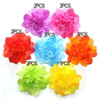 "6"" Lg. Flower Bow Gradiant Brights Asst 3 in 1 Use .54 ea"