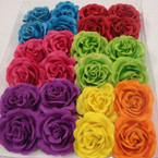 "2.75"" Matt Look Flower Bows on Gator Clip Asst Brights24 per bx  .25 ea"