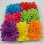 "3"" Mum Flower Look Bow on Gator Clip Asst Brights 24 per bx  .25 ea"