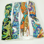 "2"" Wide Trendy Elastic Fabric Headband Paisley Patterns .50 ea"