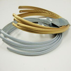 4 Pack Gold & Silver Satin Headbands .54 per set of 4