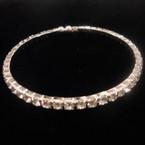 Silver w/ Clear Rhinestones Cuff Bangle Tennis Bracelet .52 ea