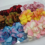 "5"" Multi Color Fashion Flower Bow 3 in 1 Use .54 ea"