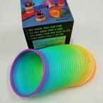 "3"" Rainbow Color Magic Spring ind. boxed 12 per sale .50 ea"