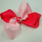 "6"" Gator Clip Fashion Bow Two Tone Lite/Hot Pink .54 ea"