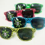 Wayfare Look Fashion Sunglasses Glow in the Dark Zebra Prints $1.12 ea