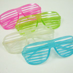 Cool Looking Glow in the Dark Shutter Shades $ 1.12 ea