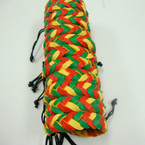 Rasta Color Braided Leather Bracelet .54 ea