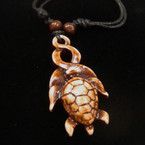 DBL Leather Cord Necklace w/ Single Style  Turtle Pendant .52 ea