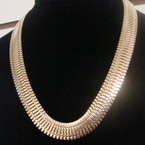 "18"" Wide Snake Chain Style Necklace Gold & Silver .60 ea"