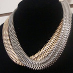 "18"" Wide Wave Chain Style Necklace Gold & Silver .60 ea"