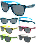 Popular Wayfarer Look Sunglasses Asst Bright Color Checker Pattern  $ 1.00 ea