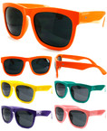Wayfarer Look Big Colorful Sunglasses Mixed Colors  .79 ea