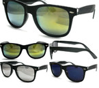 Fashionable Wayfarer Look Sunglasses Asst Color Mirror Lenses $ 1.00 ea