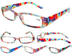 Ladies Tye Dye Pattern Reading Glasses w/ Case in Display of 24 $ 1.25 ea