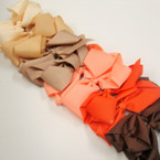 "5.5"" Gro Grain Gator Clip Bow Autumn Colors .54 ea"