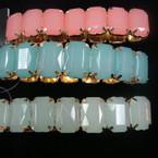 Sq. Jelly Bead Look Stretch Bracelets .54 ea