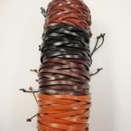 5 Strand Teen Leather Bracelet 4 Colors .54 ea