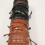 Teen Leather Bracelet 4 Strand 4 Colors .54 ea