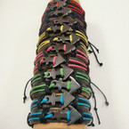 Teen Leather Bracelet w/ Hematite Anchor .54 ea