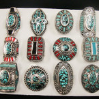 Amazing Value Southwest Look Fashion Ring Turquoise Mixed Styles ONLY .56 ea