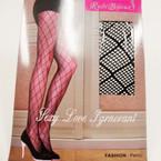 All Black Fashion Panty Hose Cris Cross Pattern 12 per pk  $ 1.49 ea