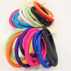 12 Pack Asst Color Thick Elastic Ponytail Holders   .50 per set