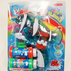 "Big 7"" X 7.5"" Fish Bubble Gun w/ Light & Music sold by pc $3.25 ea"