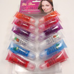 Fruit Flavored Tube Roll On Lip Gloss 24 pc display .25 ea