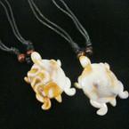 "DBL Leather Cord Necklace w/ 2"" Turtle Pendant .54 ea"