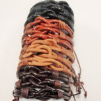 Mixed Color Unisex Leather  w/ Knot Center .54 ea