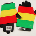 Rasta Color Fashion Glove 12 per pack .45 ea