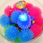 Flashing Sea Urchin Gummy Ring 24 per unit .45 ea