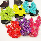6 Mixed Color 2 Style Seed Bead Fashion Bracelets .54 ea